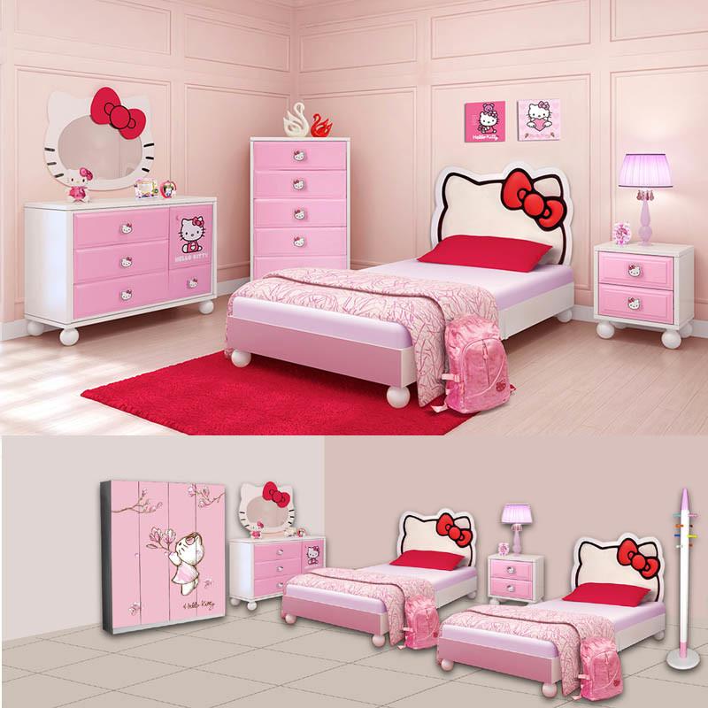China 2017 Hot Bedroom Furniture Set O Kitty Item No 159