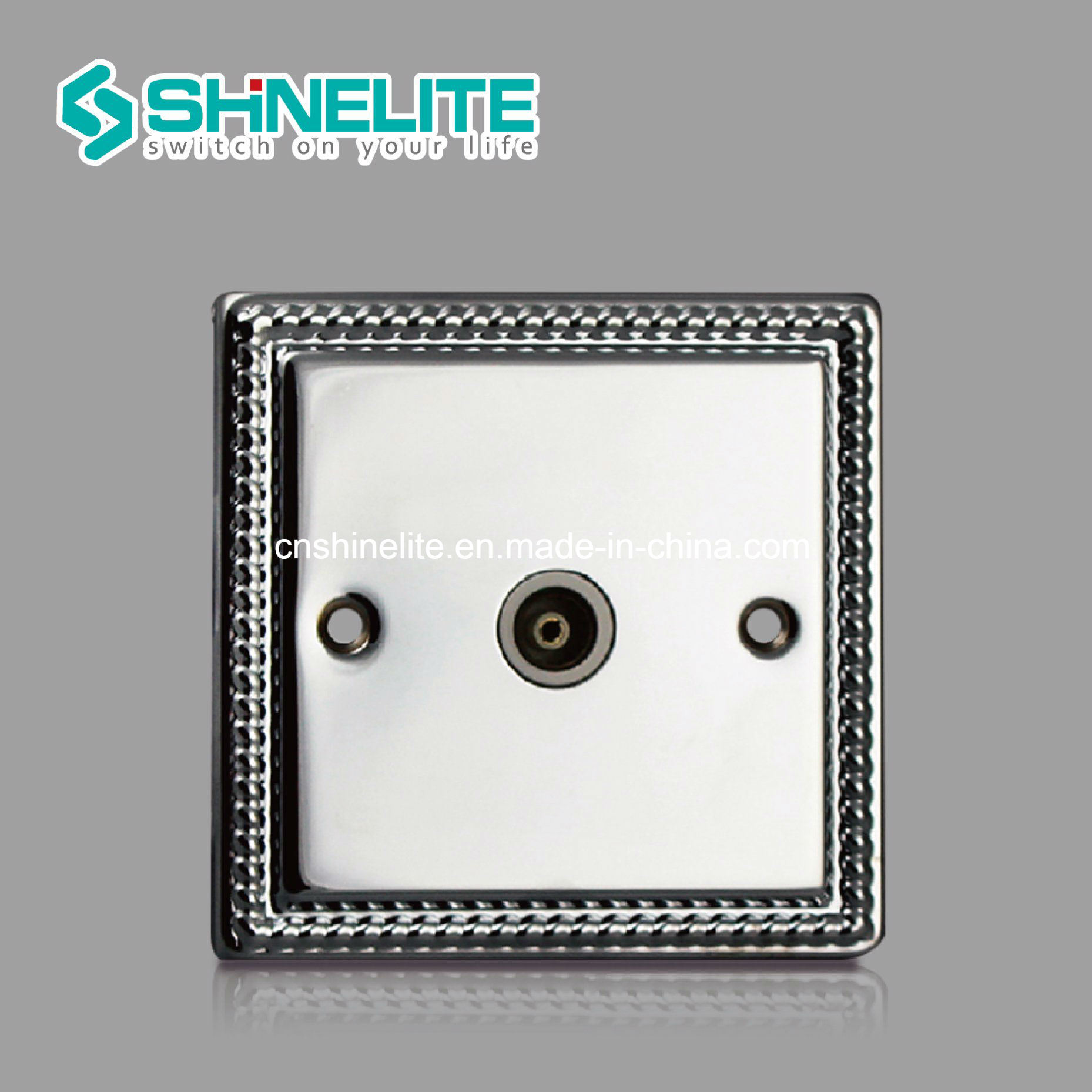 China Metal 1 Gang Coaxial Socket Single Outlet OEM - China Isolated ...
