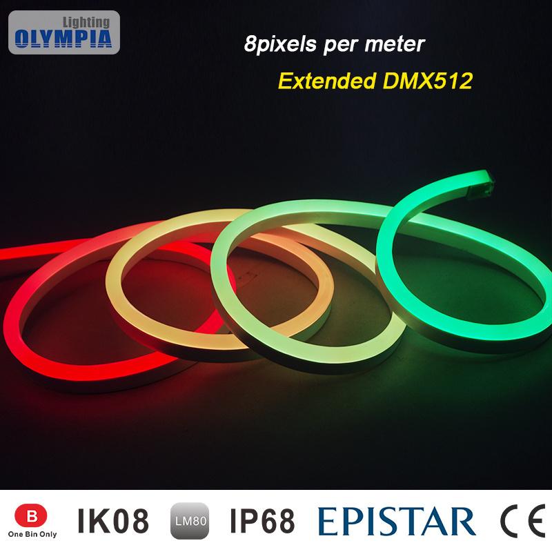 china waterproof ip68 dmx rgb flexible led neon tube