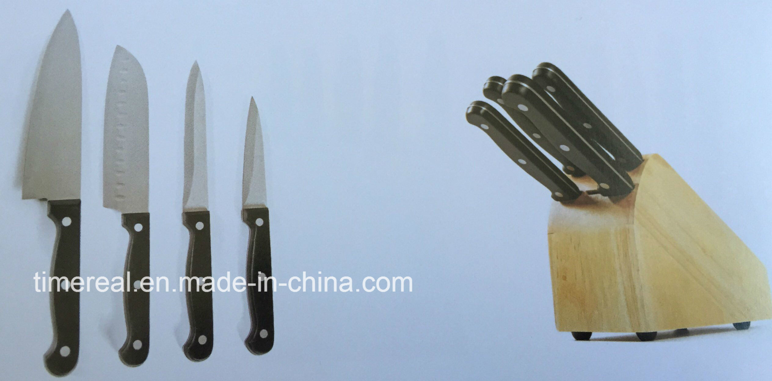 China Stainless Steel Kitchen Knives Set with Painting No. Fj-0052 ...