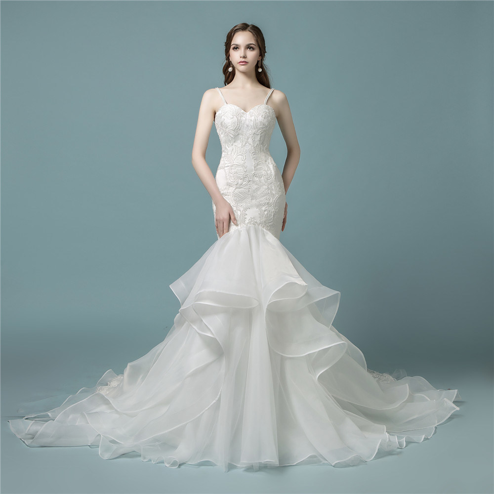 China Amelie Rocky 2018 Lace Bridal Wedding Dress Mermaid Photos ...