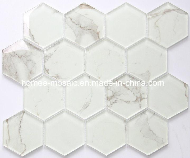 [Hot Item] Hexagon Backsplash Tiles White Mosaic Tile Kitchen for Wall  Decoration