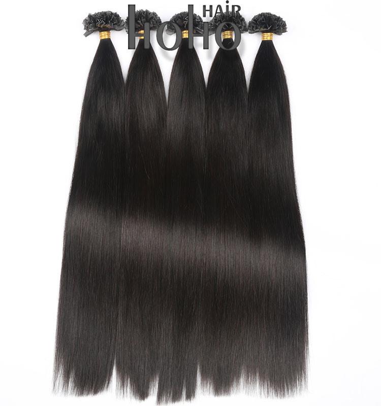 China Wholesale Price 20 Inch Black Brazilian V Tip Hair Extension