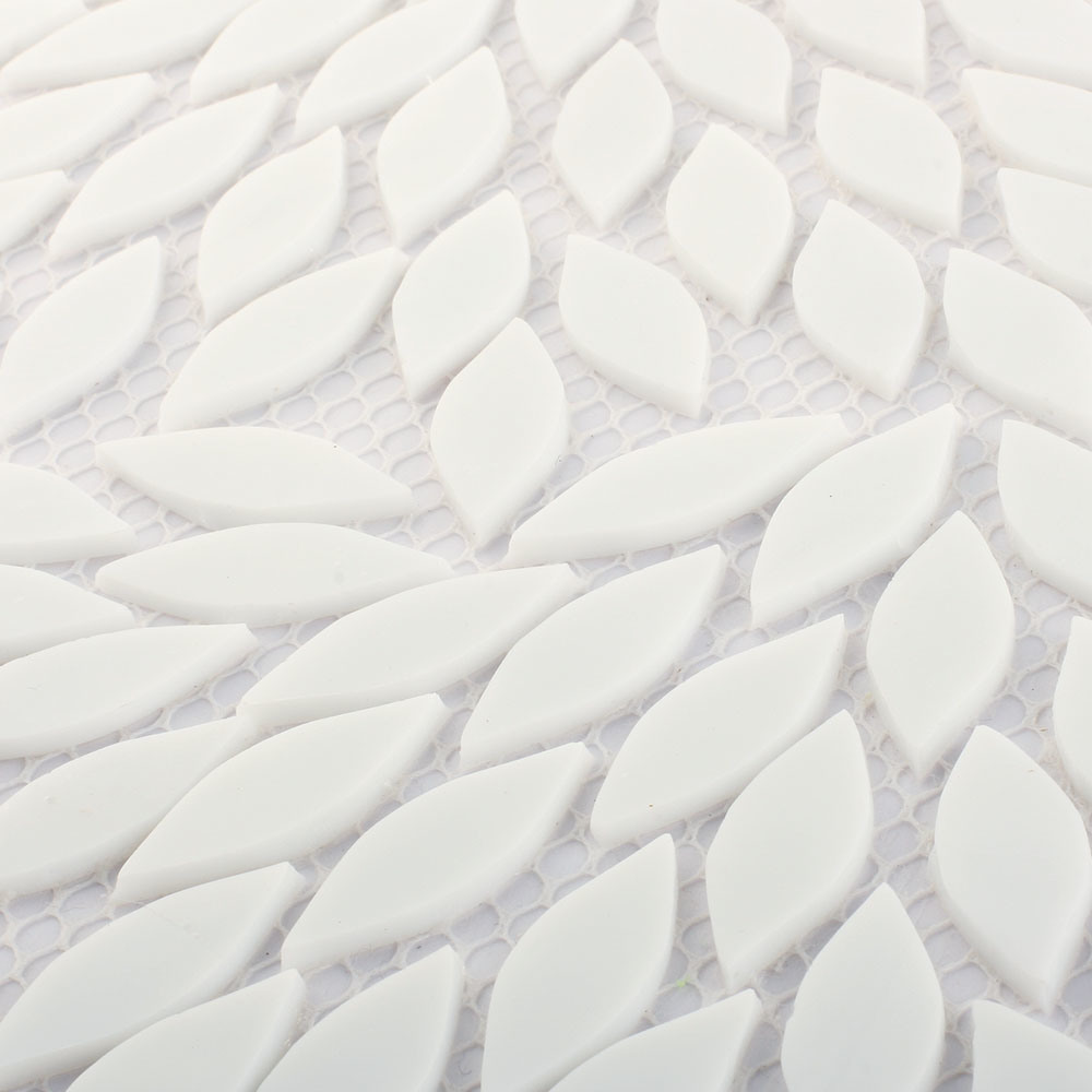 China Stained Gl Mosaic Tile White