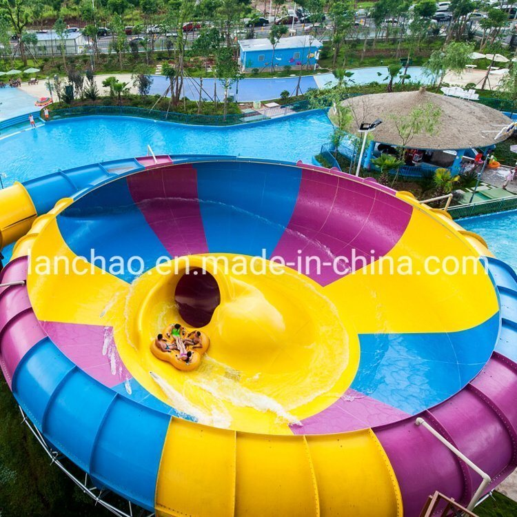 Colorful Large Fiberglass Slide for Water Park