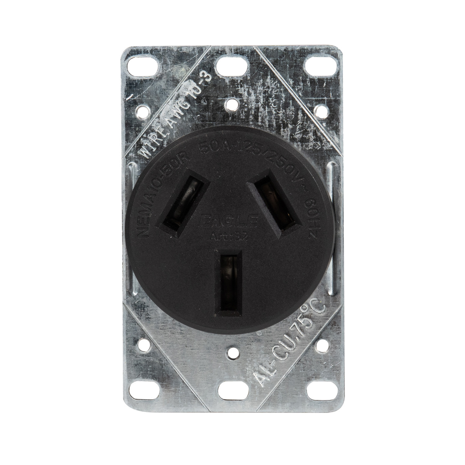 50 Amp Receptacle >> Hot Item 50 Amp Nema 10 50r Flush Mounting Industrial Receptacle