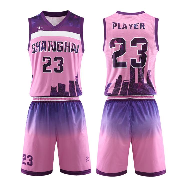 China Custom Pink Sublimated Basketball Uniform Set Best Women Basketball Jersey China Custom Basketball Uniform And Wholesale Basketball Jersey Price