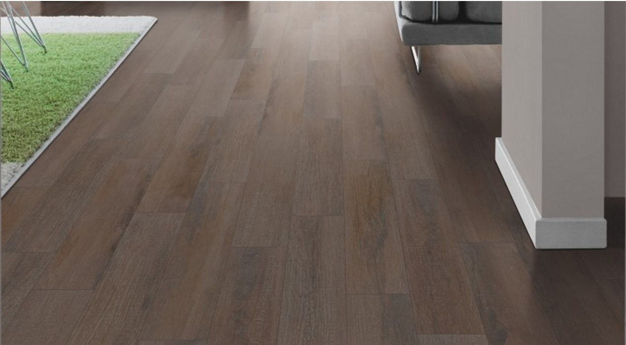 China Marciano Wood Ceramic Floor Tile Natural Chocolate Colour