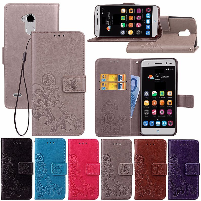 buy online afb07 1be06 [Hot Item] Leather Flip Phone Cases for Zte Blade V7 Lite