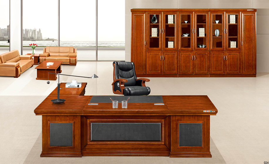 Chinese Style Red Walnut Solid Wood Office Desk For Company President China Table Furniture