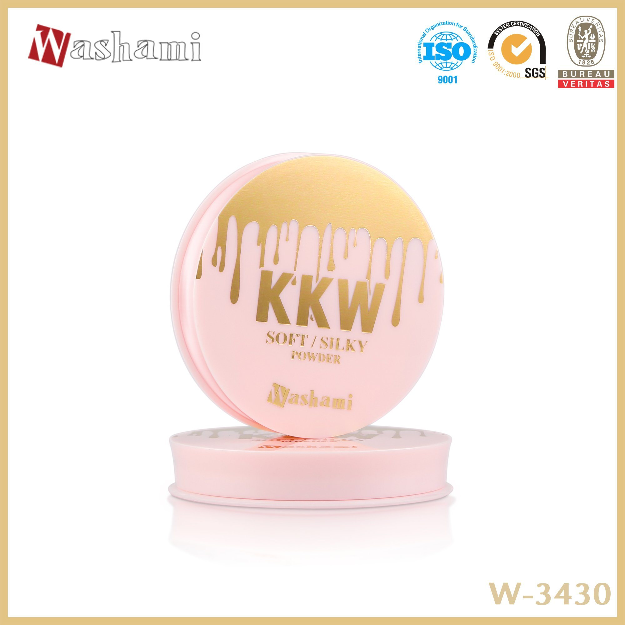 Washami Silky Pressed Powder Makeup Compact Powder pictures & photos