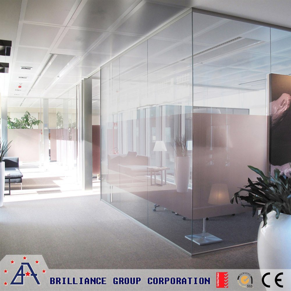 China Glass Wall Partitions 10mm Glass -Office Glass Dividers ...