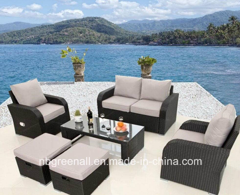 China New Lay Down Patio Rattan Sofa Garden Outdoor Furniture