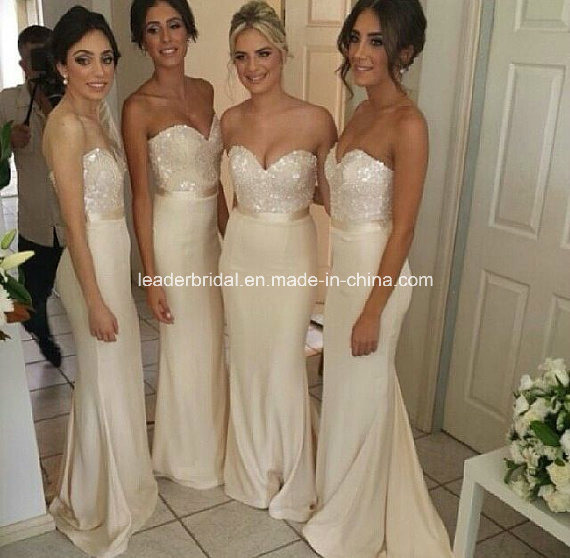 China White Strapless Evening Party