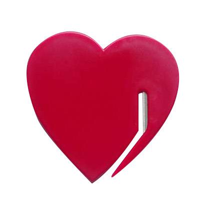 China Promotion Gift Heart Shaped Plastic Letter Slitter