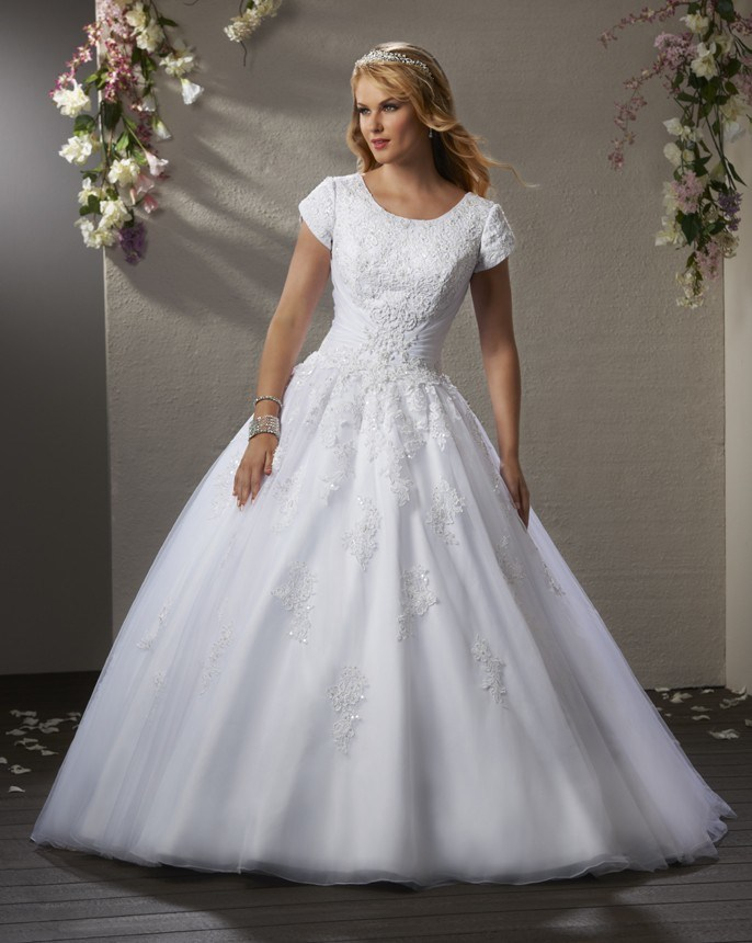 China Top Lace Ball Gown Wedding Dress Short Sleeve Organza Bridal Wedding Dress 2020 Appliques Photos Pictures Made In China Com