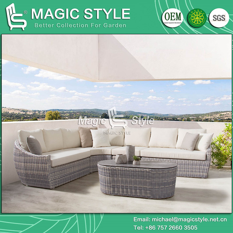 Ceramic Gl Wicker Garden Sofa