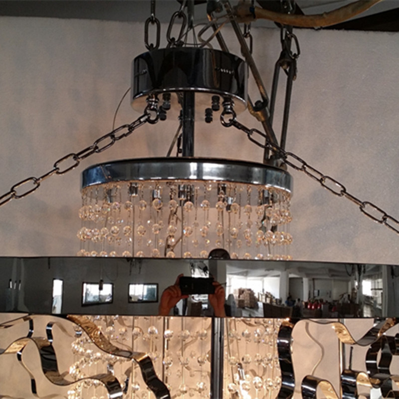 China discount classical black metal hollow hanging crystal china discount classical black metal hollow hanging crystal chandelier aloadofball Image collections