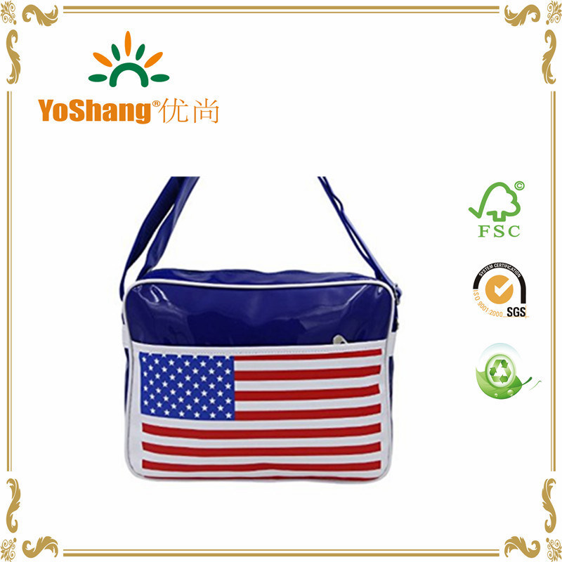 Hot Sale Shiny PVC Postman School Carry Bag PVC Shoulder Bag Messenger Bag