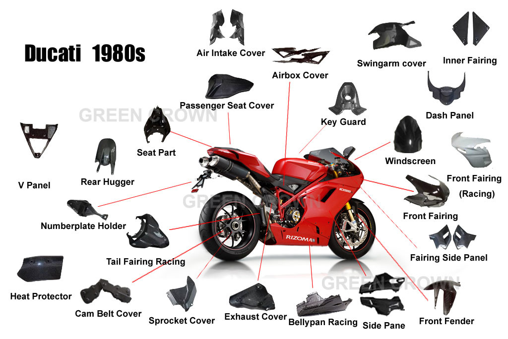 China Carbon Fiber Motorcycle Parts For Ducati 848 1098s