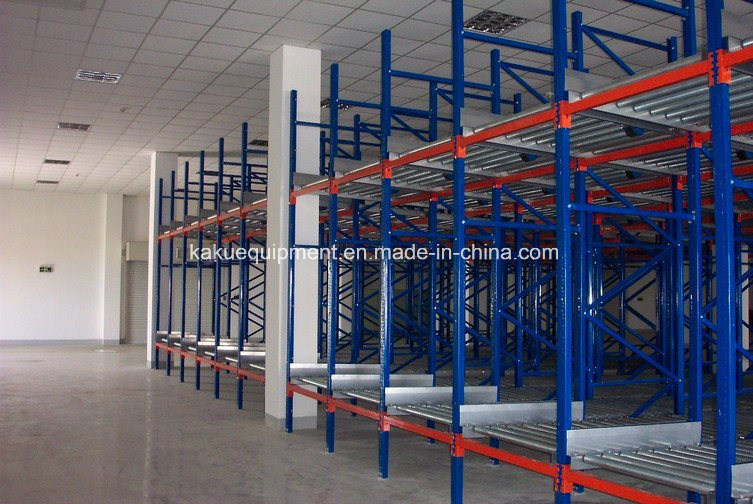 Heavy Duty Steel Roller Gravity Pallet Shelving for Warehouse Storage pictures & photos