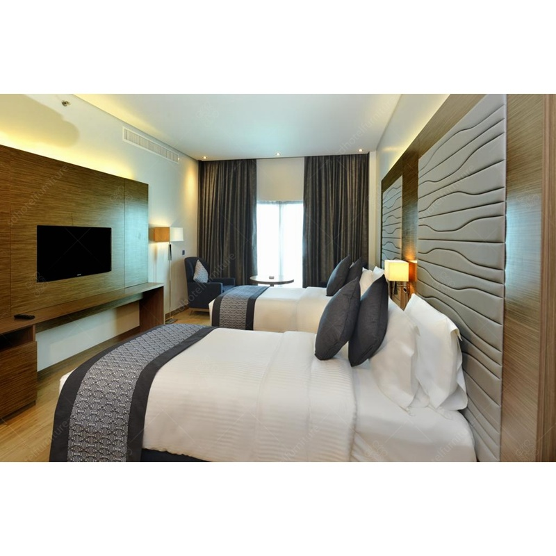 China Hotel Bedroom Furniture Design with Fancy Double Bed ...