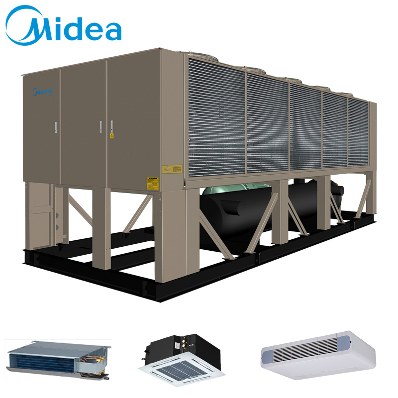 Midea Air Cooled Screw Chiller 460V-3pH-60Hz Lsblgw600 600kw Silent Operation Screw Chiller Price T1