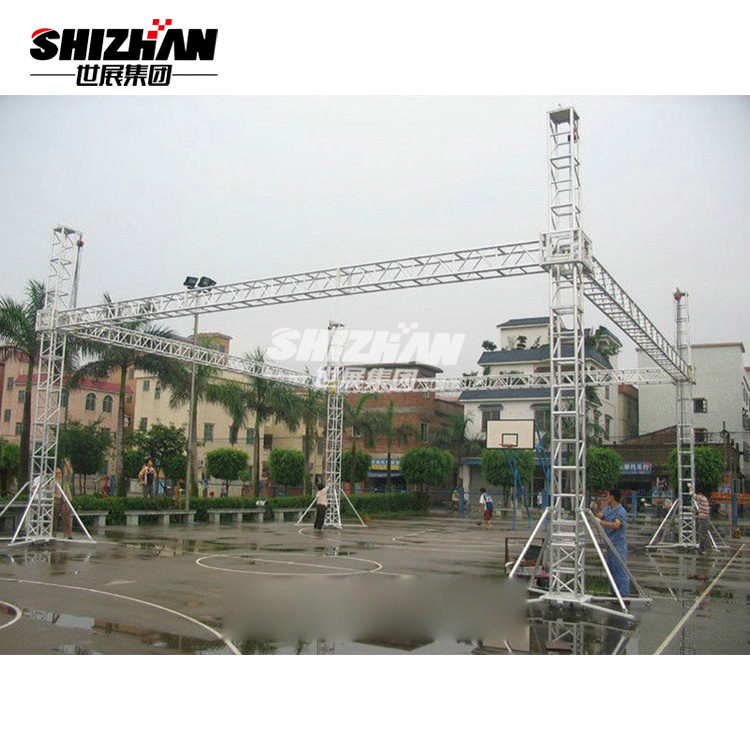 China Exhibition Lighting Aluminum Truss with Ground Support