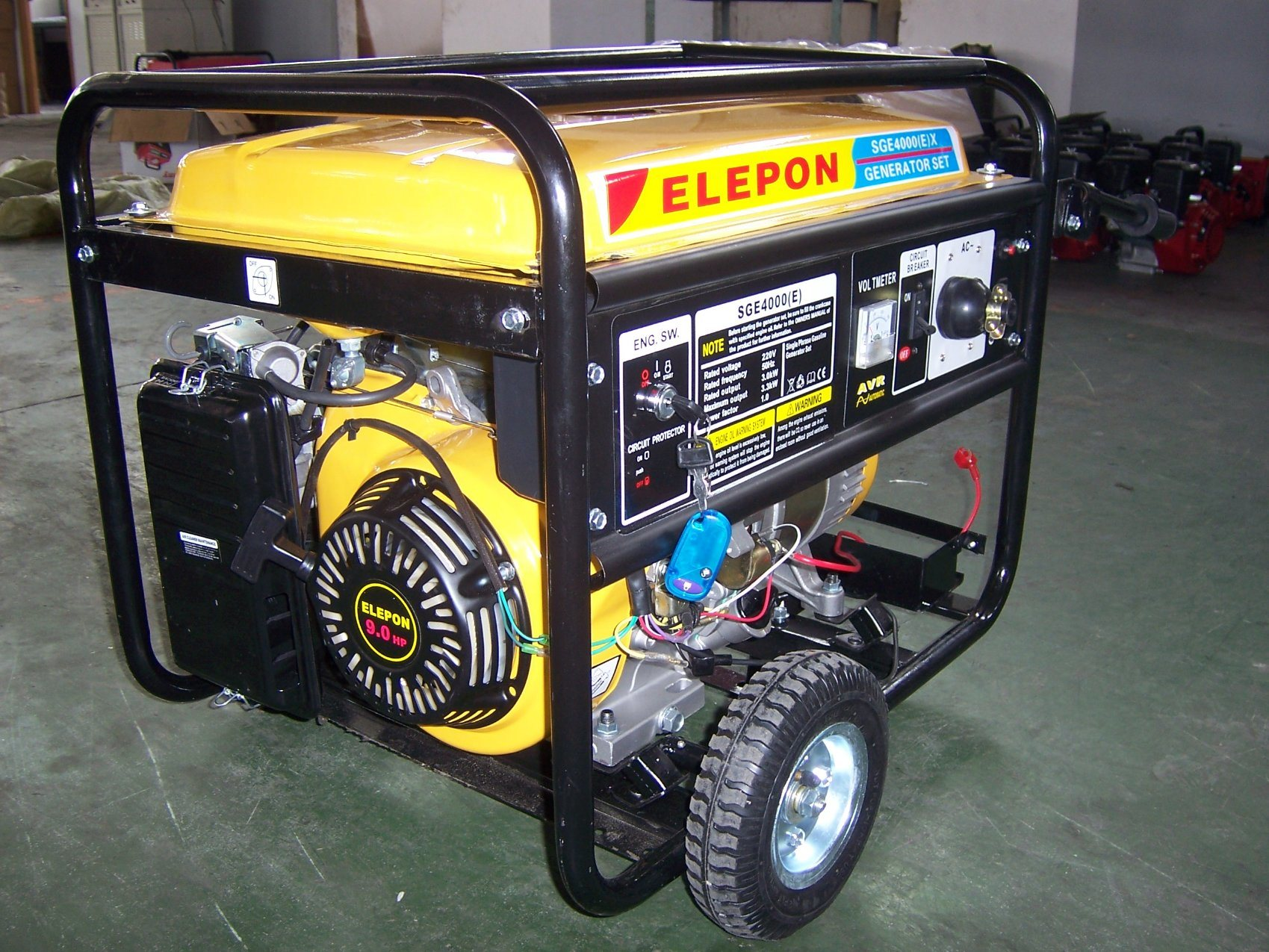China Small 5kva Motor Portable Generator Price For Whole Home Mobile Elepon