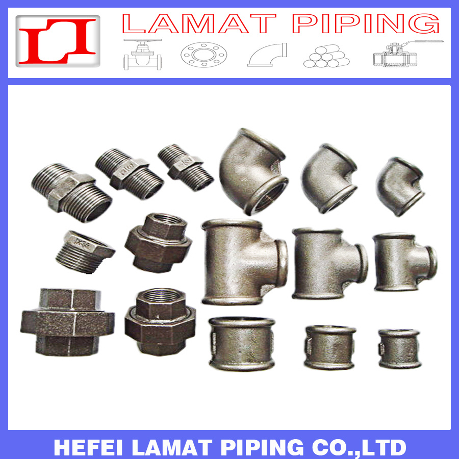 [Hot Item] Black/Galvanised Plain/Banded/Beaded Type Malleable Cast Iron  Pipe Fitting