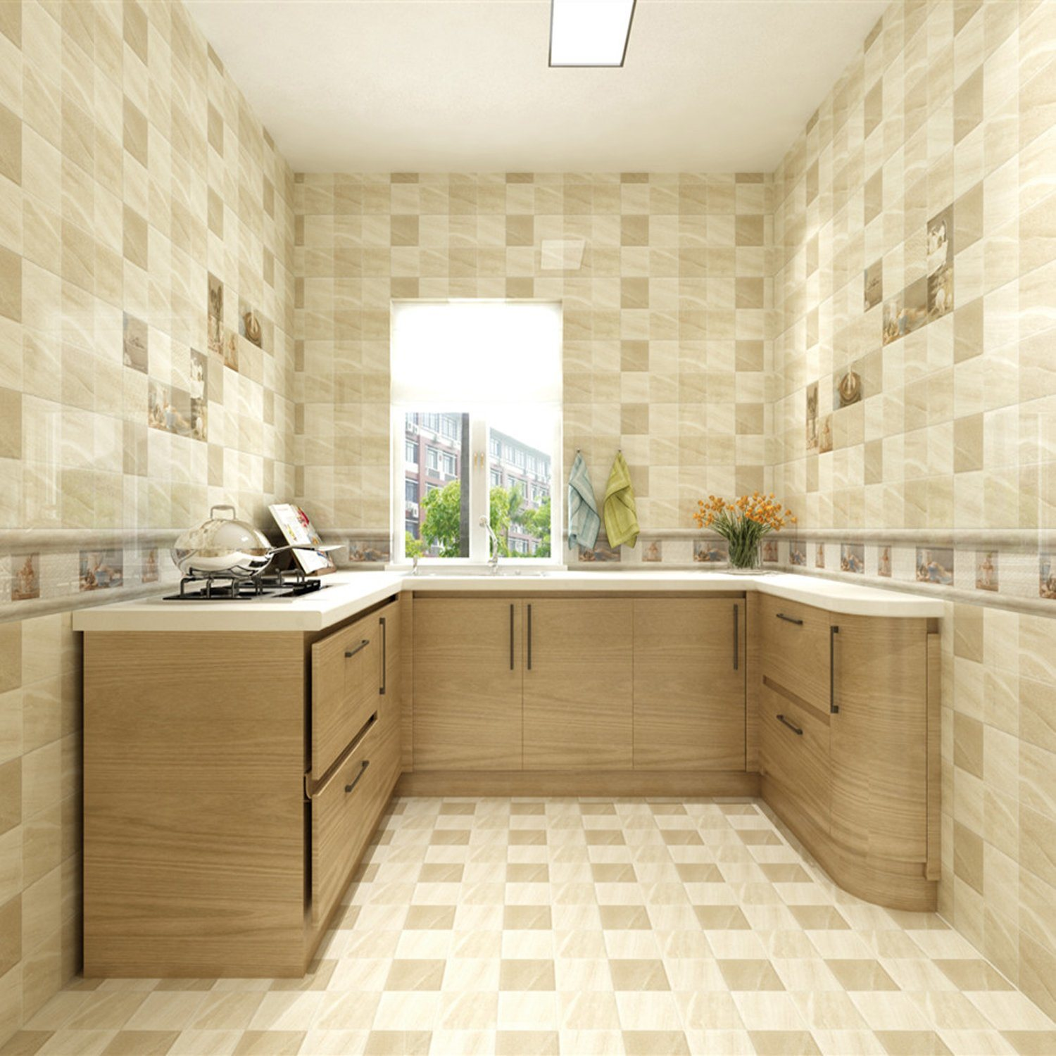 Images Of Wall Tiles For Kitchen Rumah Joglo Limasan Work