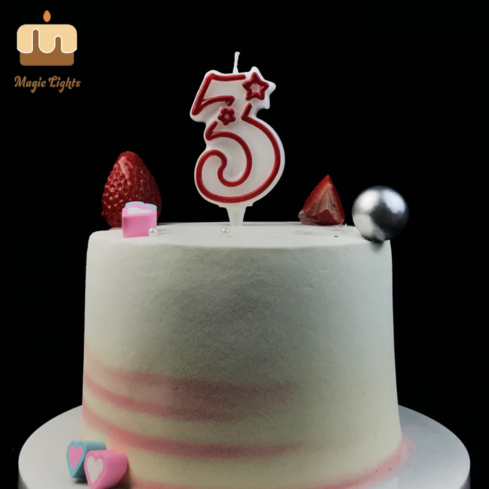 Tremendous China Red Number 3 Birthday Cake Candle Singapore China Candles Personalised Birthday Cards Paralily Jamesorg
