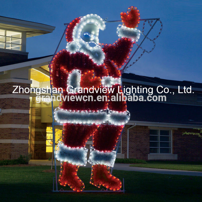 hot sale online 58b05 63684 [Hot Item] Holiday Lighting Specialists 17ft Animated Waving Santa Outdoor  Christmas Decoration with LED Multicolor Multi-Function Lights