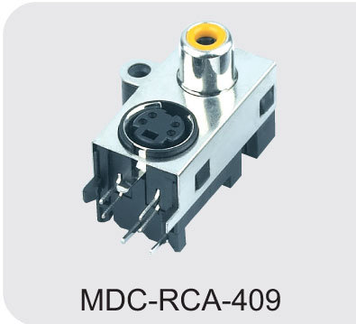 Mini DIN Connector Mdc&RCA Jack
