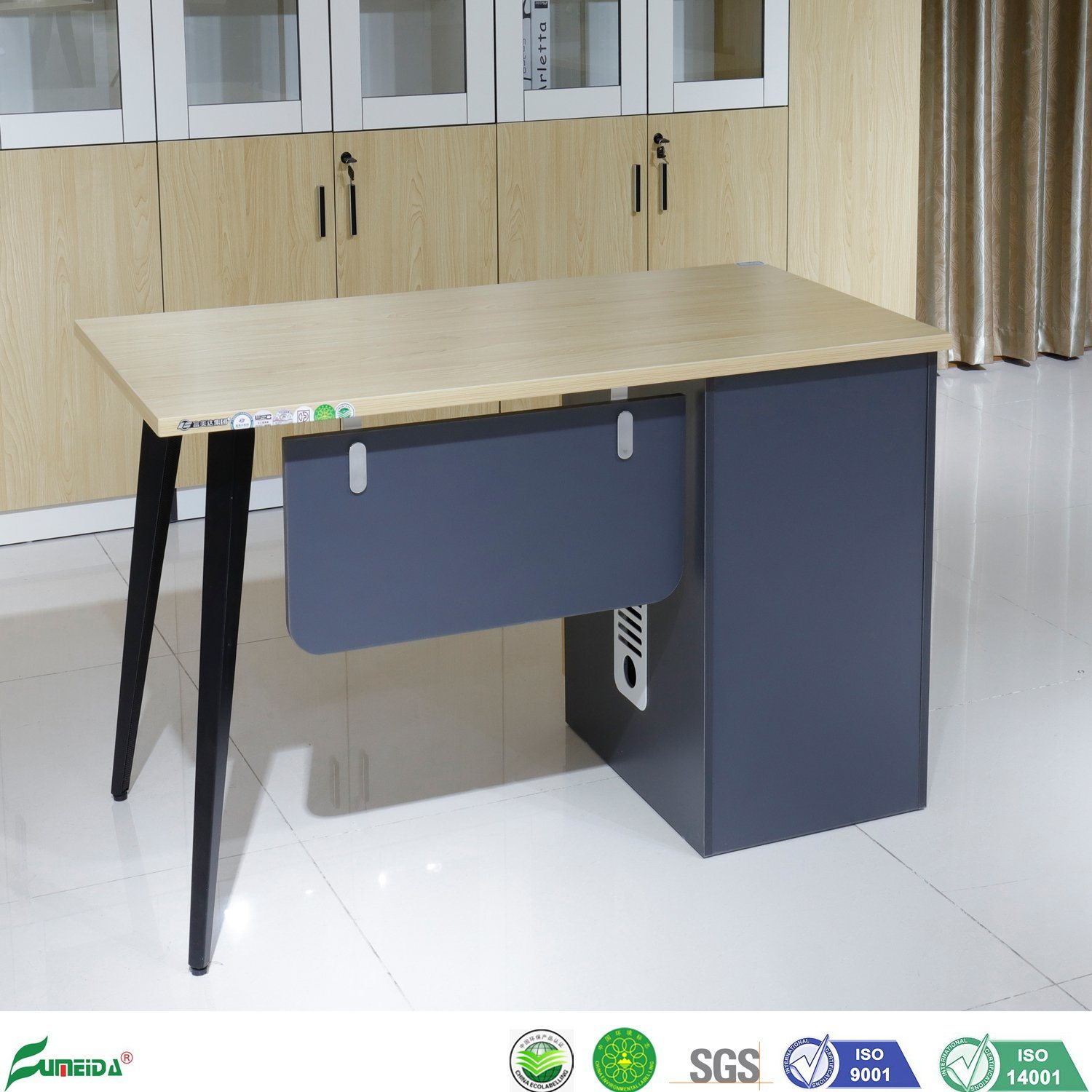 China Modern Design Wooden Staff Office Furniture Table Computer Small Office Desk China Computer Desk Staff Desk