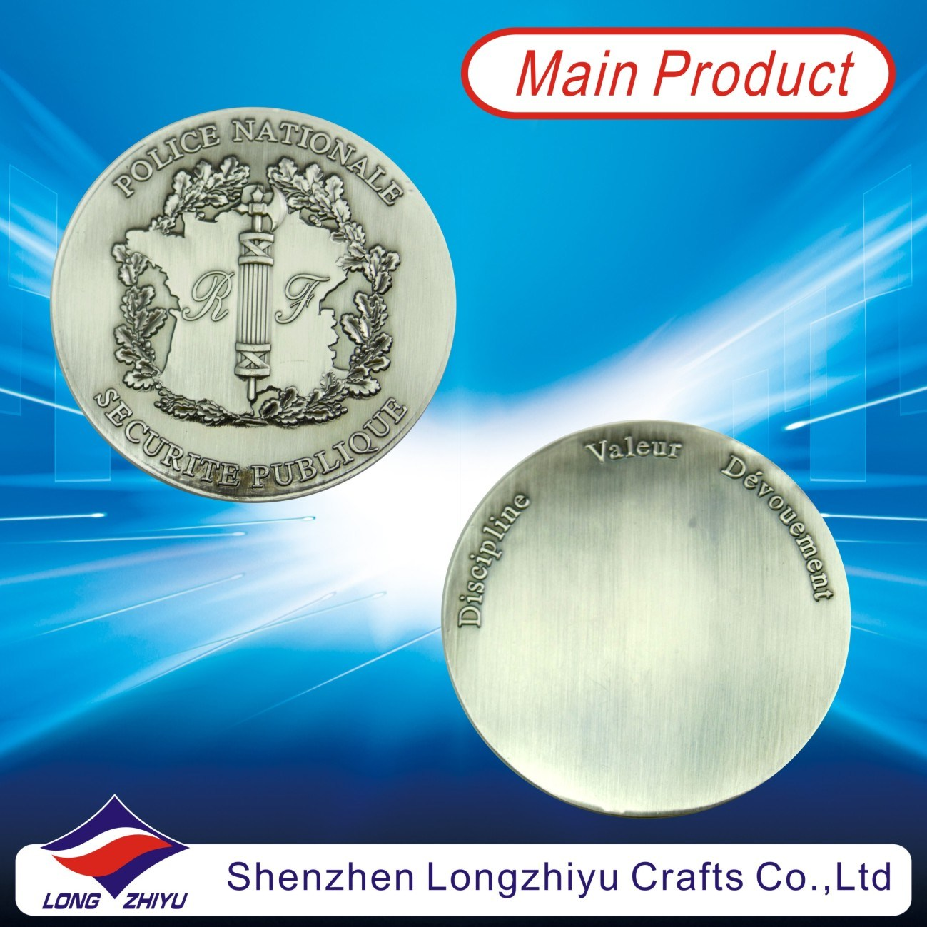 [Hot Item] Commemorative 3D Design Coins Silver Metal Custom Medal, Antique  Pewter Medallion Badge Challenge Military Coins Dealer, Metal Custom Coin