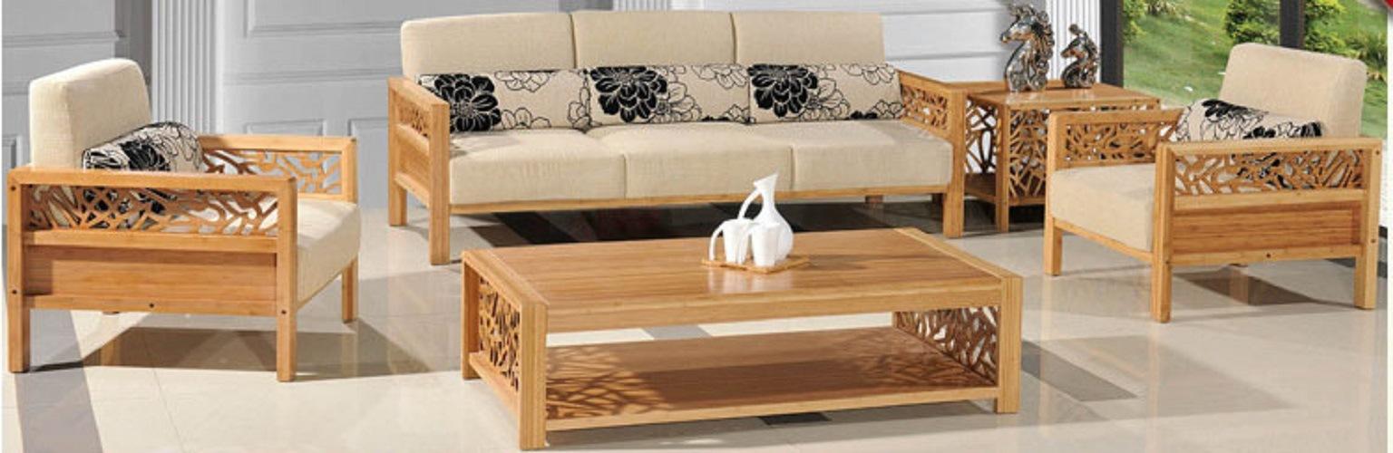 Carbonized Bamboo Sofa Sets, Bamboo Sofa Set
