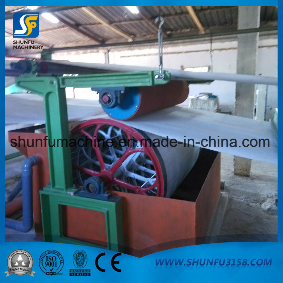 China New Waste Paper Recycling Tissue Toilet Paper Roll Machine ...