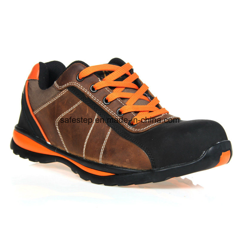 Genuine Leather Brand Industrial Safety Shoes En20345