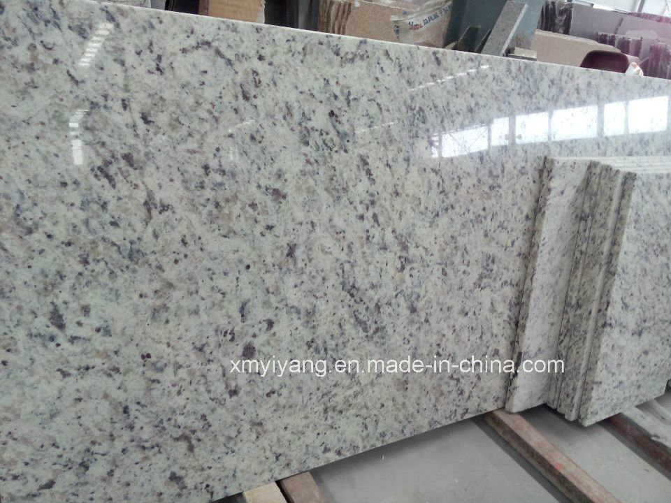 China White Rose Granite Stone Countertop For Kitchen Bathroom