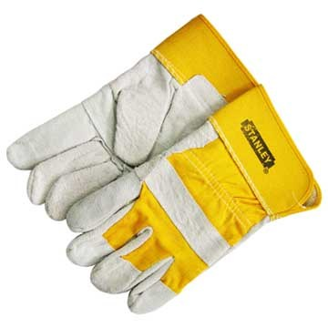 Cow Split Leather Working Gloves with CE Approved
