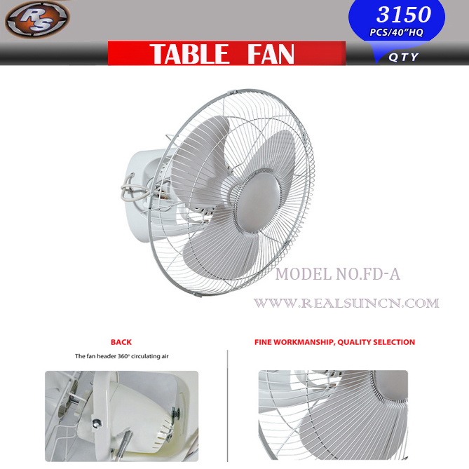 Fan With Metal Blade 360 Degree
