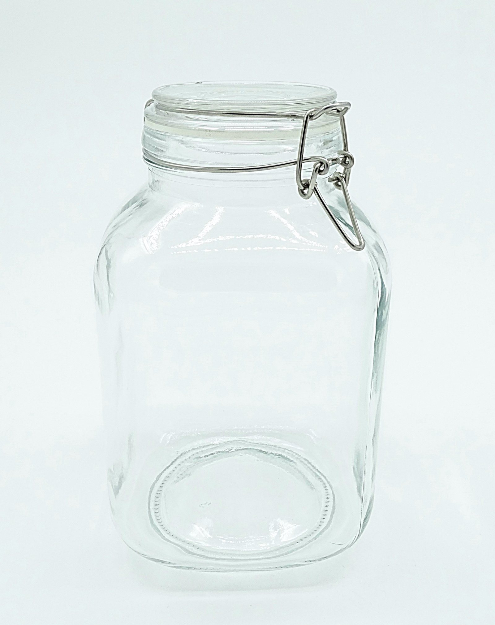 China Clip Big Square Glass Storage Jar Kitchen Sweet Containers
