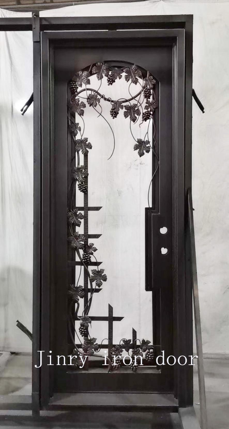 China Wine Cellar Door Forging Leafs Grape Designs Door For Basement China Wine Cellar Door Forging Leaf