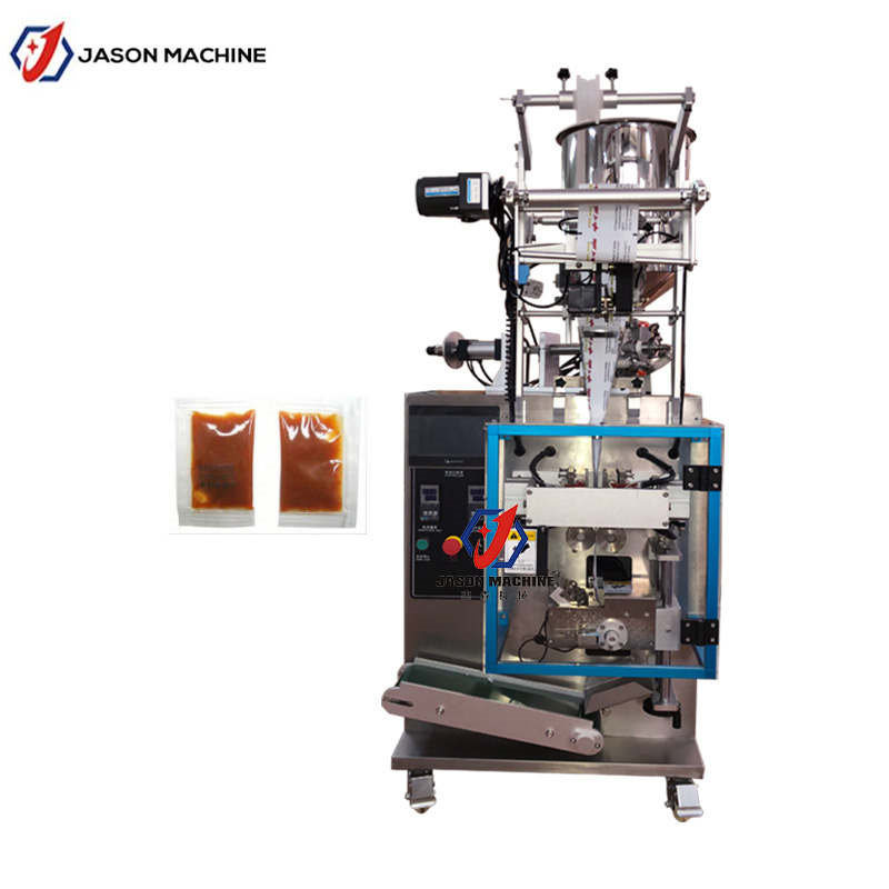 China Automatic Black Pepper Steak Seasoning Sauce Sachet Packaging Machine China Pepper Sauce Packaging Machine Paste Sachet Packing Machine