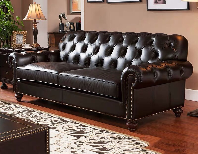 [Hot Item] 8 Year Newest Design Living Room Furniture Leather Sofa Set