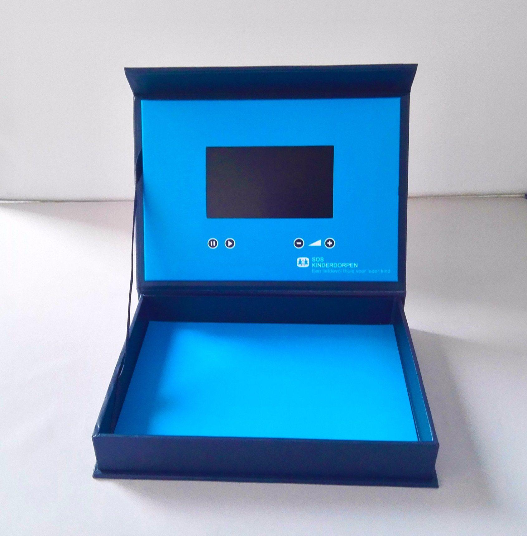 China Paper Box Shape Video Greeting Card Lcd Screen Video Brochure