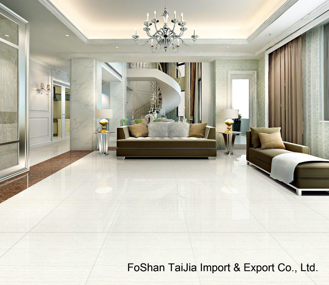 [Hot Item] Building Material White Line Stone Polished Porcelain Floor Tile (TJ6301)