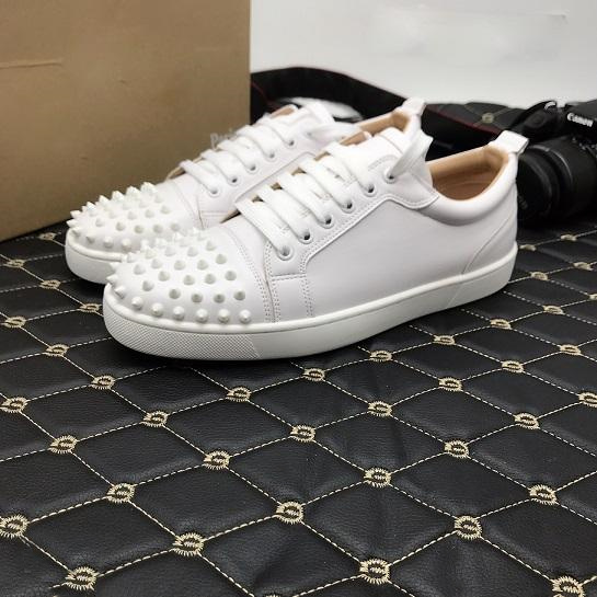 brand new babb6 350bd China Designer Shoes Spike Red Bottom Sneakers Leather Shoes ...