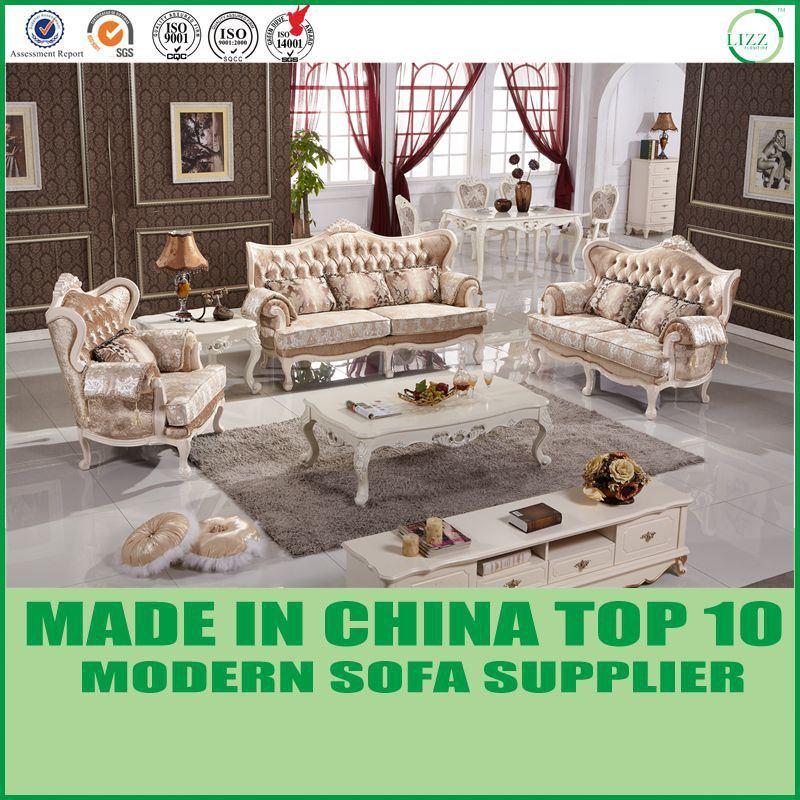 China Living Room Fabric or Leather Button Tufted Sofa Set Y1512 ...